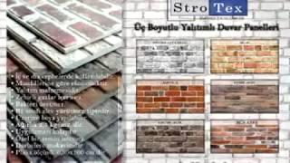 Strotex 3 boyutlu duvar paneli uygulama. Cafe ve Ev dekorasyonu