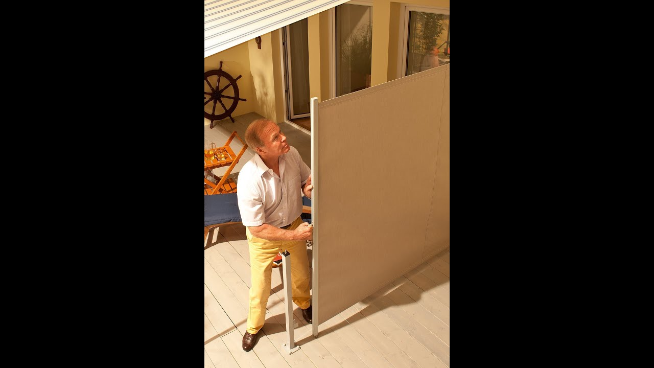 How To Install A Retractable Horizontal Privacy Wind