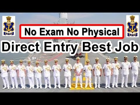 Direct Entry Indian  Navy Best Job 2019 Apply Online Latest Navy Technical & Executive Branch