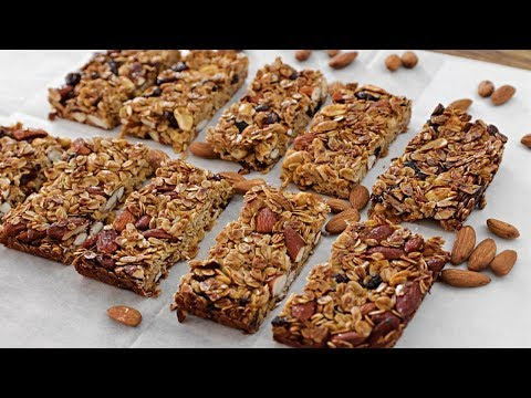 How to make healthy granola bars with oatmeal