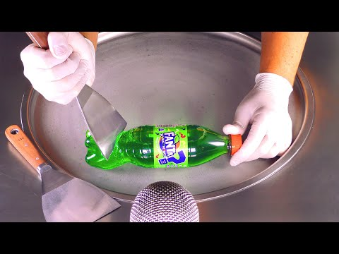 ASMR - Mystical Green Fanta - Guess The Flavour | Oddly Satisfying Ice Cream Rolls #what The Fanta ?