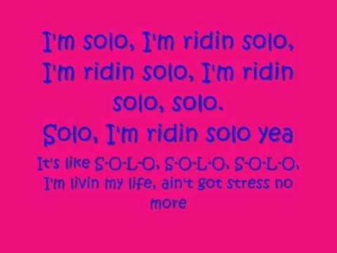 Jason Derulo Ridin Solo lyrics