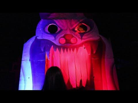 Circus Haunted House Maze Walk Through POV Queen Mary Dark Harbor 2016