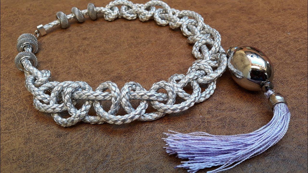 98eb64bf3603 Interesante Collar Trenzado...Clase  158!!! - YouTube