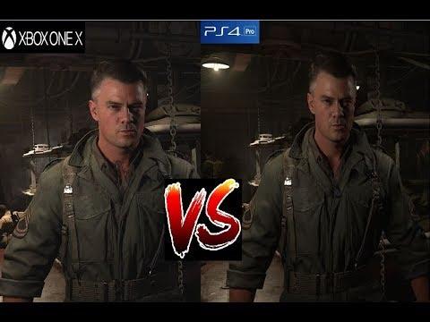 Call Of Duty WW2 - XBOX ONE X vs PS4 PRO Graphics ... Xbox One X Vs Ps4 Pro Graphics Comparison
