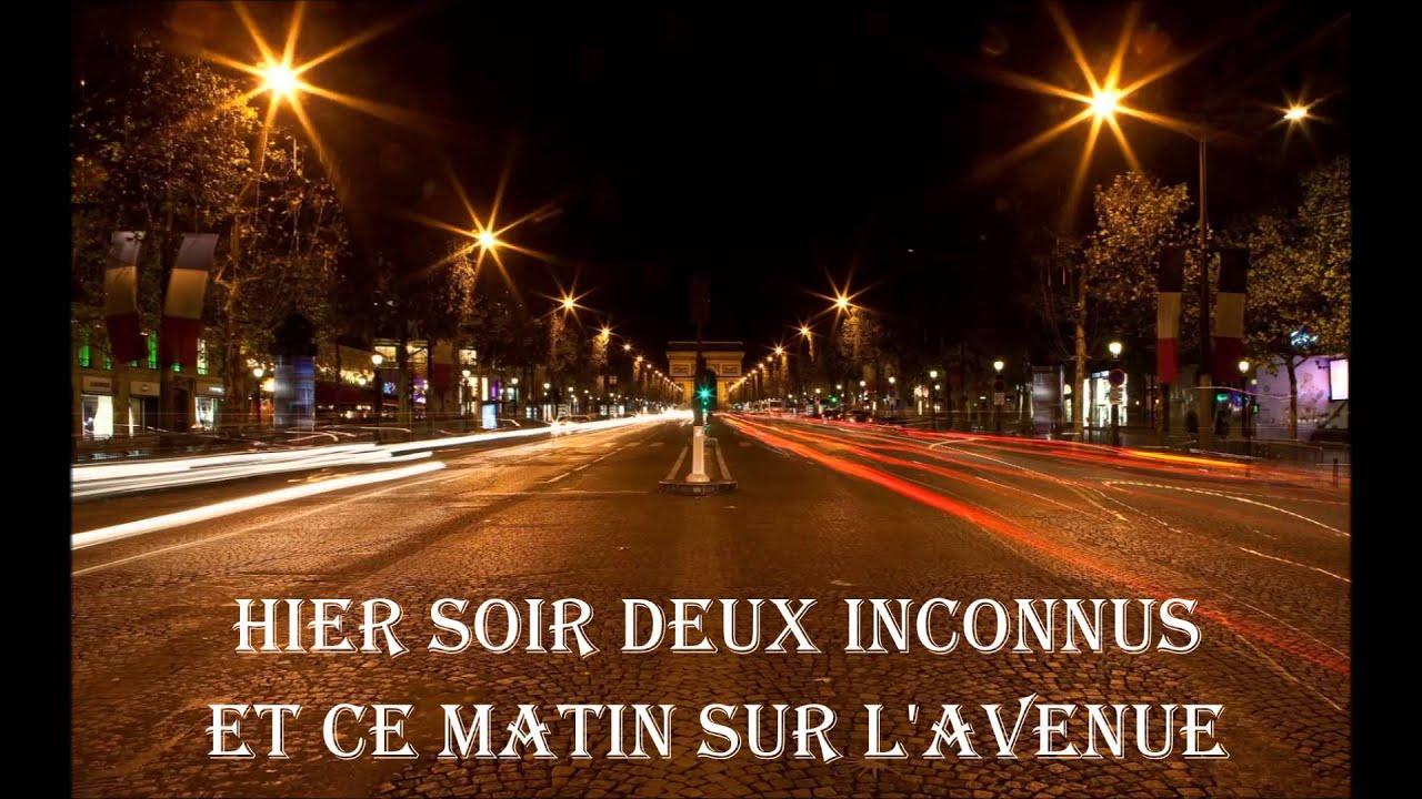 Joe Dassin - Les Champs-Elysées 1970 - YouTube