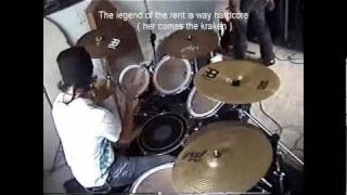 The legend of the rent is way hardcore ( hctk drum cover ) full