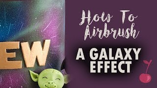 How to Airbrush a Galaxy Space Effect on Cake | Cherry Basics