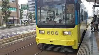 阪堺電気軌道阪堺線宿院電停電車入線シーン