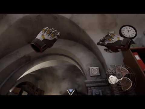 VR paper throw (Robo Recall)