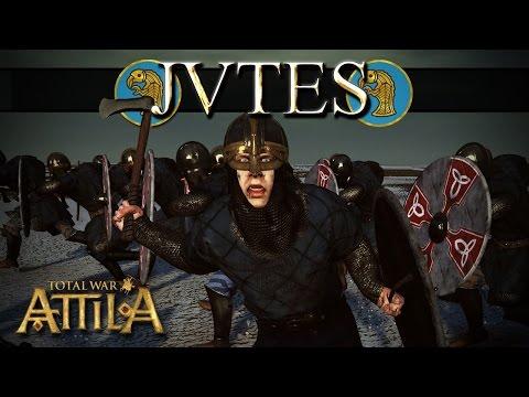 G4 The Prussian Prince vs Orgetorix - Huns vs Jutes - Total War Attila |