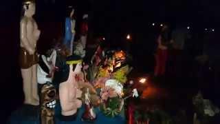Grupo De Tambor 7 Rayos (tambor de san millan) (12 de octubre 2014) (baile en candela)