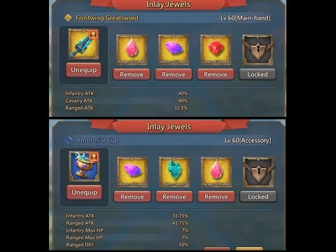 Lords Mobile Account Overview (Rally Leader, Gear Trap)
