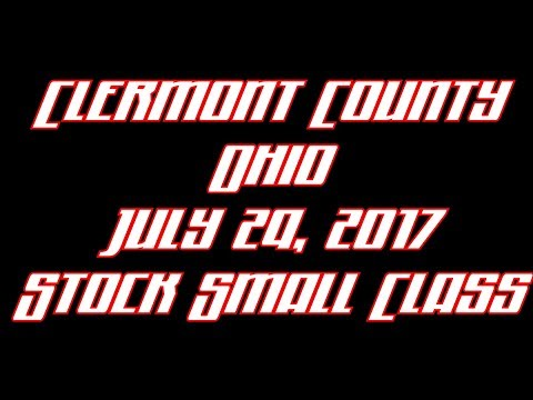 Clermont County Ohio July 29 2017 Small Stock Class