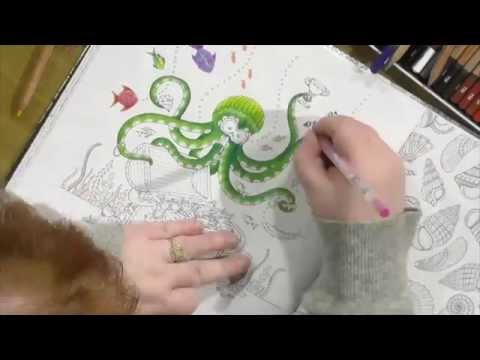 Lost Ocean Time Lapse Colouring with Sarah Hurley & Hochanda