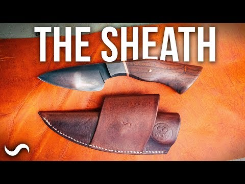 MAKING A LEATHER KNIFE SHEATH!!!