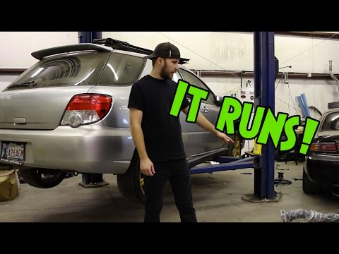 JDM WRX Engine Swap! – Day 3 – IT RUNS!