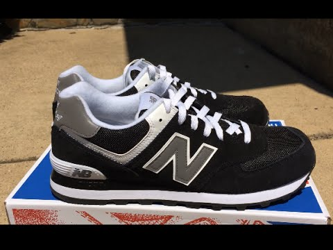 black and grey new balance 574