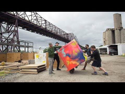The Floating Museum: River Assembly: Southeast Chicago (Barge Construction)