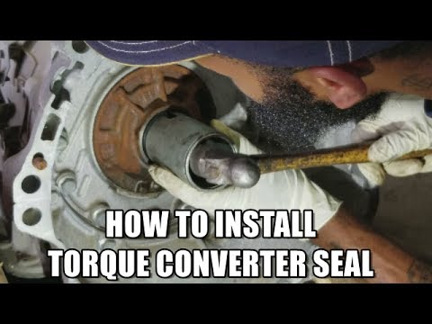 HOW TO INSTALL TORQUE CONVERTER SEAL 2009-2013 INFINITI G37