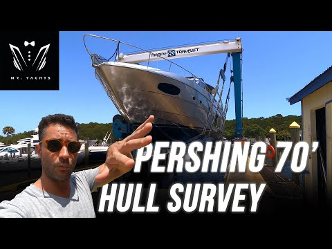 What is a Hull Survey? | Pershing 70' Yacht Survey Part 2 | VLOG #2