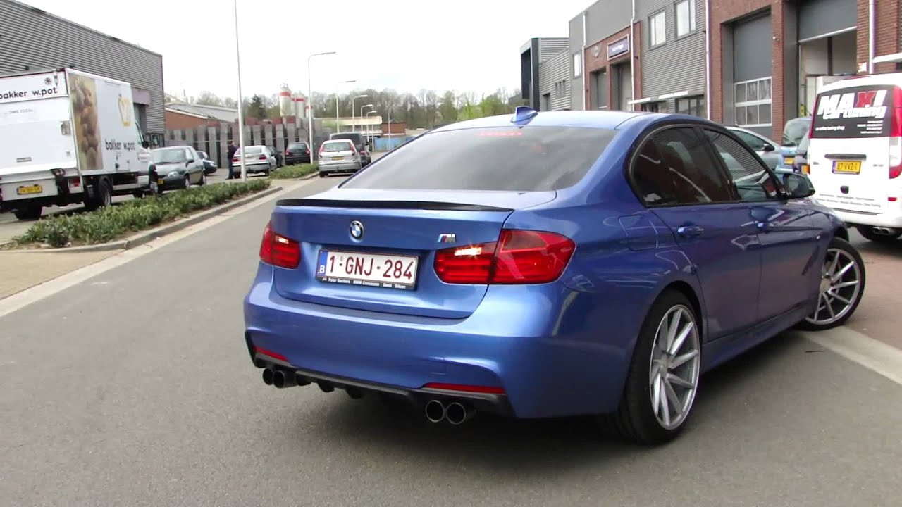 bmw f30 320d diesel sport exhaust uitlaat sportuitlaat system with nice sound by. Black Bedroom Furniture Sets. Home Design Ideas