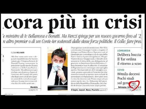 I giornali in edicola - la rassegna stampa 14/01/2021