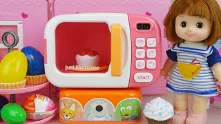 Cake Micro oven and Baby doll Surprise eggs toys play cooking