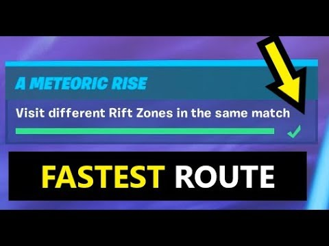 Visit Different Rift Zones In The Same Match (Fortnite Season 10 METEORIC RISE CHALLENGES)