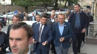 Володимир Гройсман прогулявся центром Львова