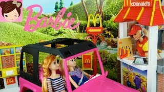 Barbie Mc Donald's Drive Thru Playset With Frozen Toddlers Toys Trolls, Maleficient