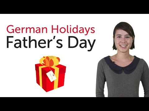 Learn German Holidays - Father's Day