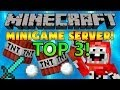 Top 3 Minecraft MiniGames & HungerGames & Survival Games Servers 1.7.9 April 2014 NEW!