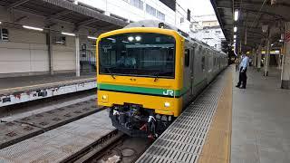 クモヤE493系 常磐線試運転返却回送 上野駅発車