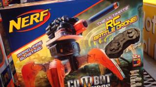 "NERF COMBAT CREATURES ""Terradrone"" Robot Nerf Spider Machine Gun with Remote Control REVIEW"