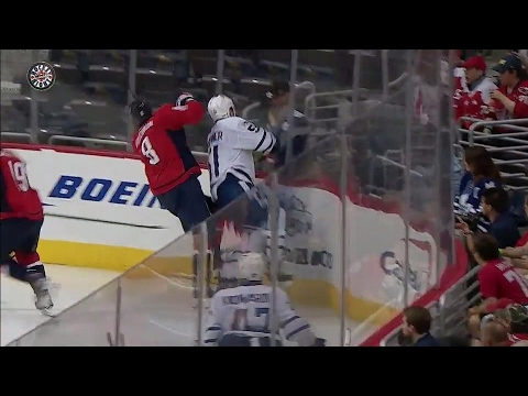 Ovechkin looking fine early in second, lays big hit on Gardiner