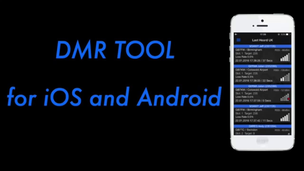 DMR Tool for iOS and Android