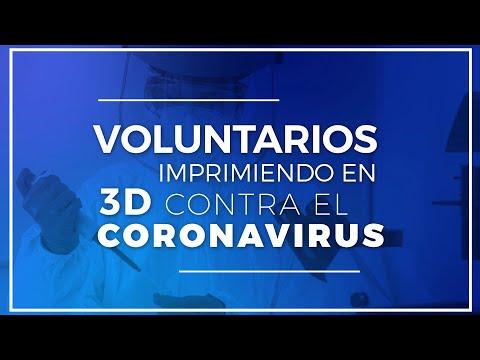Voluntarios imprimiendo en 3D contra el coronavirus en Burgos