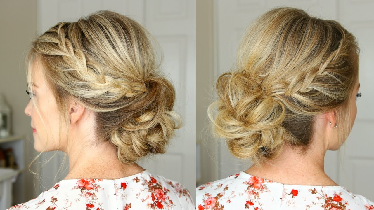 Prom Hairstyles 2019: Lace Braid Homecoming Updo
