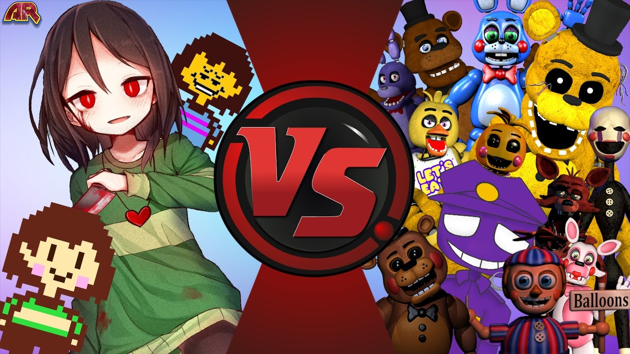 Chara Vs Five Nights At Freddy S Undertale Vs Fnaf 2 Final Face Off Cartoon Fight Club 139 Youtube