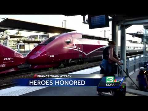 Sacramento to honor heroes in France high-speed train terrorist attack