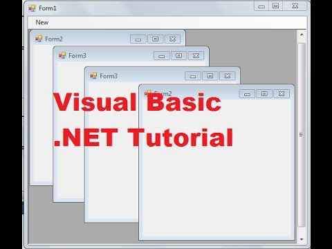 Visual Basic  NET Tutorial 54 -How to use Multiple-Document Interface (MDI)  in VB NET