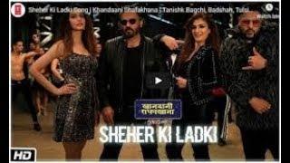 Sheher Ki Ladki lyricalSong | Khandaani Shafakhana | Tanishk Bagchi, Badshah, Tulsi Kumar, Diana