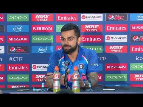 Virat Kohli pre ICC champions trophy Final - India vs Pakistian - Press Conference 2017