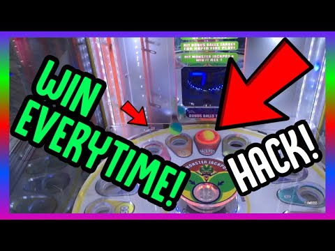 HOW TO WIN THE MONSTER DROP JACKPOT EVERYTIME! ARCADE GAME HACK! (ClawBoss Arcade Jackpot Wins)