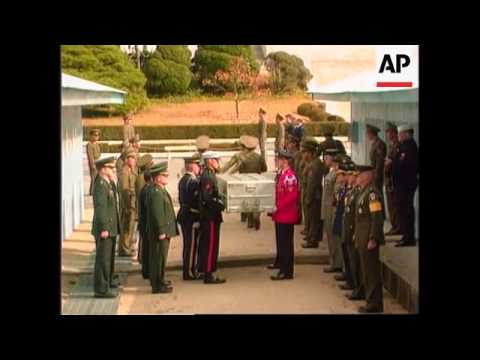 Korea - Handover of US soldiers's body