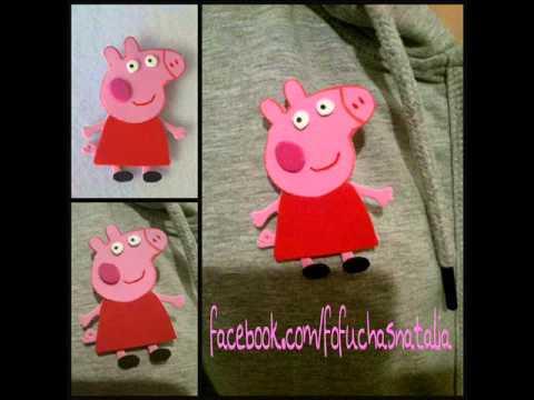 Broche Peppa Pig goma eva - YouTube