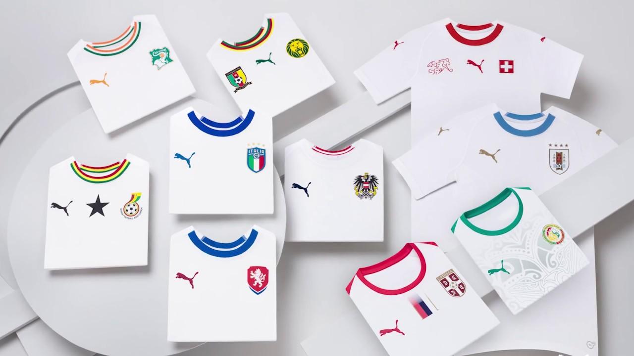PUMA 2018 19 National Team Away Kits - YouTube 131976fce