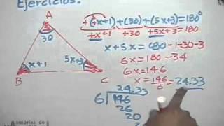 Resolución De ángulos Internos De Un Triángulo Youtube