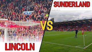 SUNDERLAND FANS LOSE THEIR HEADS Lincoln City 2-0 Sunderland Matchday Vlog